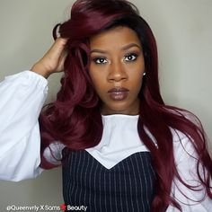 Perfect hair for this Valentine's day weekend @queenvrly slays with HUMAN HAIR BLEND LACE FRONT WIG 13X4 LACE CHARLOTTE by @janetcollection   #love_samsbeauty #janetcollection #wig #lacefrontwig #lacewig #lacefront #hair #style #protectivestyles #blackgirlhair #naturalhair #blackgirlmagic #naturalhaircommunity #urbanhairpost #hairinspiration #beauty #trend Lace Front Wigs, Lace Wigs, Hair Inspo, Hair Inspiration, Natural Hair Styles, Long Hair Styles, Black Girls Hairstyles, Synthetic Hair, Protective Styles