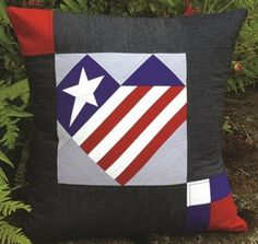 Janome is proud to share this project from Sam Hunter to help celebrate the 4th of July. Make this quick pillow cover, or make multiple Heart blocks for a wall hanging! It's perfect for celeb…