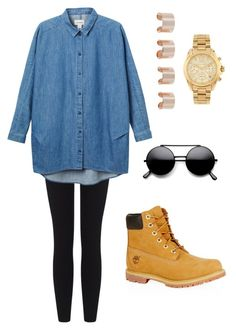 """""""Tomboy Chic"""" by pashley958 ❤ liked on Polyvore featuring Timberland, James Perse, Monki, Michael Kors and Maison Margiela"""