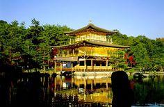 """Kinkaku-ji, officially named Rokuon-ji (lit. """"Deer Garden Temple""""), is a Zen Buddhist temple in Kyoto, Japan. The garden complex is an excel..."""