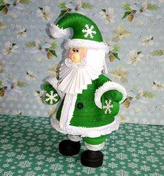 Quilling art Santa Claus Christmas ornament Handmade toy 3D