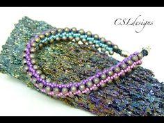 3 colour elegant beaded kumihimo bracelet - YouTube