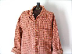 Vintage 1990s Mens Plaid Shirt Grunge Button by jacquelynmaria, $28.00