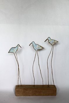 Epistyle: Recap More Sculptures Sur Fil, Wire Art Sculpture, Wire Sculptures, Abstract Sculpture, Bronze Sculpture, Copper Wire Art, Art Fil, Driftwood Art, Wooden Art