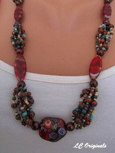 COLOURS OF AFRICA necklace by LCOriginalsJewelry on Etsy, $39.00