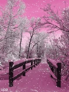 pink snow would be awesome