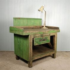 This old workbench looks so much like the one my Dad made. He could fix just about anything here and with all of us kids, he did!