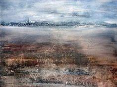 Acrylic painting hazy landscape, Acrylmalerei dunstige Landschaft - YouTube
