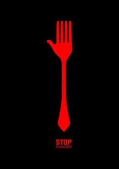 Illustration | Stop Hunger poster #graphicDesign #minimal