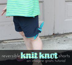 reversible knit knot shorts, an imagine gnats tutorial