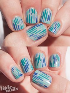 blue and green lines {cute!}