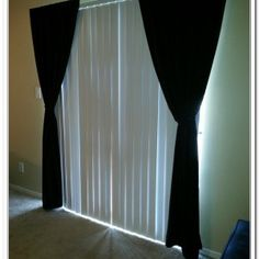 Easily Hang Curtains Over Vertical Blinds No Tools