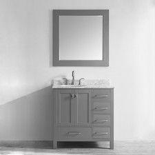 "Gela 36"" Single Vanity Set with Mirror"