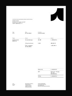 Picture of invoice designed by Jens Windolf for the project Jens Windolf. Published on the Visual Journal in date 27 November 2015
