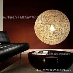 vendita di moderno e minimalista camera da letto soggiorno pranzo leggero di lino colorato linea personalità rattan palla lampadario punto ingrosso(China (Mainland))