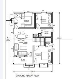 Unique House Plans, My House Plans, House Layout Plans, Family House Plans, House Layouts, House Gate Design, Kerala House Design, Bungalow House Design, Bungalow Floor Plans