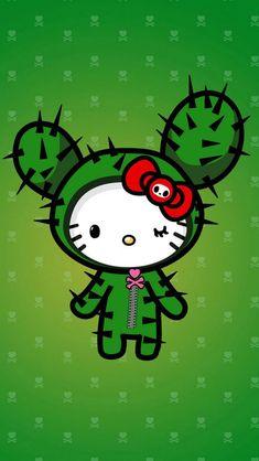 Hello Kitty Cactus IPhone Wallpaper