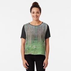 'Grow' Chiffon Top by Nicole Florian Photographic Prints, Chiffon Tops, My Photos, Fitness Models, Mens Tops, Sleeves, How To Wear, T Shirt, Stuff To Buy