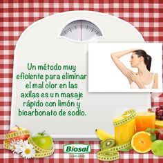 Elimina el mal olor de tus axilas de manera fácil y natural.  http://www.hoycambio.com/articulos/1/589/tips_para_eliminar_el_mal_olor_de_las_axilas_.html