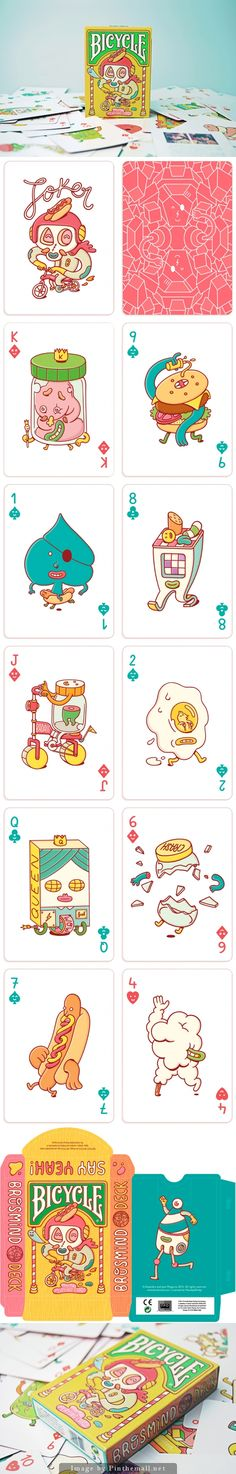 Bicycle Shop Deck of Cards Game Card Design, Board Game Design, Playing Cards Art, Custom Playing Cards, Bicycle Cards, Illustrations And Posters, Deck Of Cards, Character Illustration, Graphic Design Inspiration