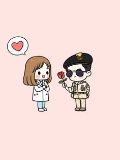 Descendants of the sun fanart Desendents Of The Sun, Descendants Of The Sun Wallpaper, Chibi, Les Descendants, Song Joon Ki, Arte Nerd, Songsong Couple, Song Hye Kyo, Fanart