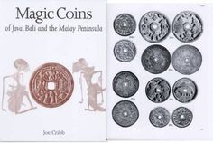 """Magic Coins of Java, Bali and the Malay Peninsula"" - by Joe Cribb (British Museum Press - Catalogue, to centuries, based on the Raffles Collection of coin-shaped charms from Java in the British Museum. Magic Coins, British Museum, Java, Charms, Chinese, Collection, Chinese Language"