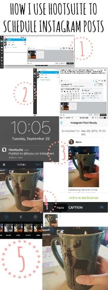 How I use Hootsuite to Schedule Instagram posts