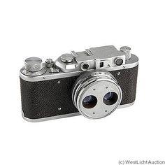 FED: FED Zorki Stereo 1961-1965. 35mm rangefinder camera, same as IIIa. Stereo lens FED 3.8/38mm. Swinging mask for 18x24mm.