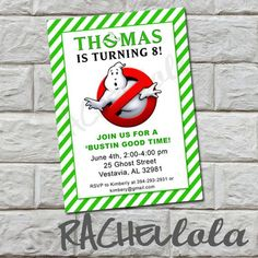 ... | Ghostbusters Birthday Party, Ghostbusters and Birthday Pa
