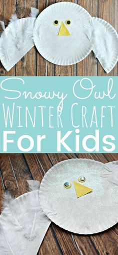 Winter crafts for kids - Paper Plate Snowy Owl Kids Craft – Winter crafts for kids Paper Plate Crafts For Kids, Winter Crafts For Kids, Easy Crafts For Kids, Winter Fun, Paper Crafts, Toddler Art Projects, Craft Projects For Kids, Toddler Crafts, Preschool Crafts