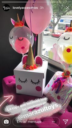 49 Ideas For Birthday Gifts Sorprise Box Birthday Goals, Bff Birthday, Cute Birthday Gift, 18th Birthday Party, Friend Birthday Gifts, Unicorn Birthday Parties, Diy Gift Box, Bff Gifts, Birthday Decorations