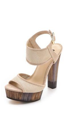 """Rachel Zoe """"Lexi"""" Perforated Platform Sandals in Straw Stilettos, Christian Louboutin, Walking In High Heels, Shoe Deals, Block Heel Shoes, Rachel Zoe, Zoe Zoe, Shoe Game, Shoes Heels Boots"""