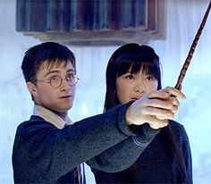 Rupert Grint, Daniel Radcliffe, and Katie Leung in Harry Potter and the Order of the Phoenix Harry Potter Prequel, Mundo Harry Potter, Harry Potter Cast, Cho Chang, Katie Leung, Ron And Harry, No Muggles, Rupert Grint, Hogwarts Mystery