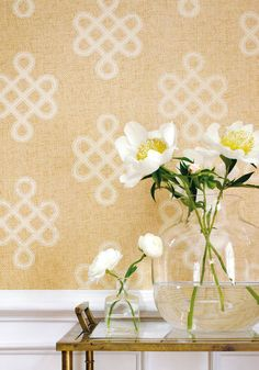 Endless Knot #grasscloth #wallpaper in #cream from the Grasscloth Resource 2…