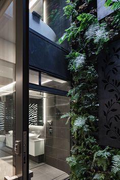 MINT Lighting Design – Bathroom Lighting – Bathroom Design – Black and White Bathroom – Hidden Light – Hallow Mirror - Melbourne Architect – Australian Homes Unique Lighting, Lighting Design, Mews House, Internal Courtyard, Australian Homes, Art Deco Design, Architect Design, Decoration, Bathroom