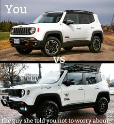 My Dream Car, Dream Cars, New Car Accessories, Ford 4x4, Jeep Renegade, 4x4 Trucks, Small Cars, Jeep Life, Hilarious