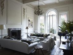 Paris apartment. I love the paneling.
