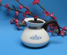 Corning Ware Teapot in Cornflower Blue by BusyOnBlackwood on Etsy, $14.00
