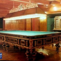 Billiards --- Man, I'd hate to have to move that thing! But I would love to play on this table.  I love billiards just as much as pool!  Ivan