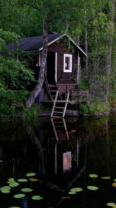 Awesome 48 Wonderful Home Sauna Design Ideas Tiny Cabins, Cabins And Cottages, Sauna Design, Outdoor Sauna, Finnish Sauna, Summer Cabins, Little Cabin, Cabin Homes, Cabins In The Woods