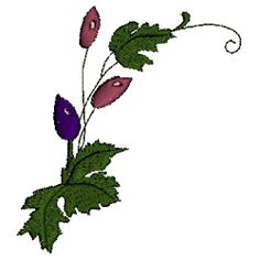 Vine with Pods $10.00 Wedding Embroidery, Machine Embroidery, Vines, Plant Leaves, Flowers, Plants, Flora, Arbors, Royal Icing Flowers