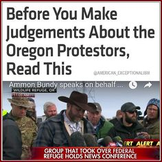 I do not believe armed confrontation is effective but I also realize the first Americans rebelled with arms and were called terrorists so before everyone goes off half-cocked I think cooler heads should prevail.  If the feds attack well have #Waco and #RubyRidge all over again and if the #Bundy group shoots back #Obama will have a pretense for confiscating #Guns and eradicating our right to #SelfDefense.  One thing we can agree on I hope is this government is #Lawless out of control…