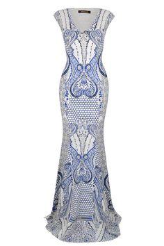 Roberto Cavalli Grecian maxi dress