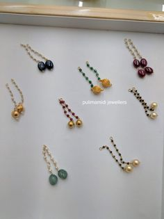 Jewerly necklace simple stones chains ideas for 2019 Gold Jhumka Earrings, Gold Earrings Designs, Gold Jewellery Design, Bead Jewellery, Pendant Jewelry, Gold Jewelry, Beaded Jewelry, India Jewelry, Handmade Jewellery