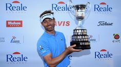 An exhausted Raphael Jacquelin - winner of Spanish open!! After a 9 hole playoff marathon.