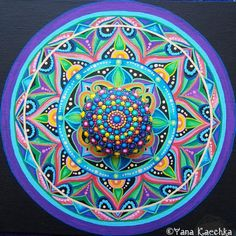 That moment when mandalas of the different styles matching each other perfectly This mandala is available in my Etsy shop Etsy.com/YanaKaechka By mandala Fairy Yana Kaechka #mandala #mandalastone #paintedrock #mandalastein #fairygarden #wallart #homedecor