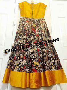 Frock Patterns, Girl Dress Patterns, Kids Blouse Designs, Hand Designs, Long Frocks For Girls, Kalamkari Designs, Kalamkari Dresses, Long Gown Dress, Kids Lehenga