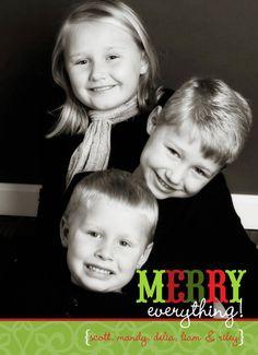 Christmas photo card theteacookie