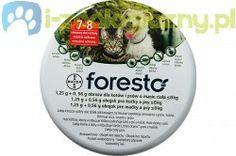 FORESTO Obroża przeciw pchłom i kleszczom dla psów i kotów o masie ciała do 8kg