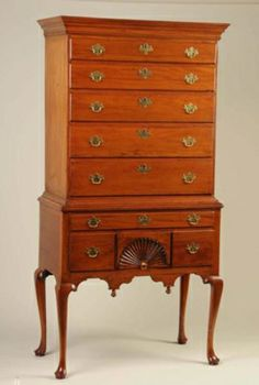 Queen Anne New England Sycamore Highboy